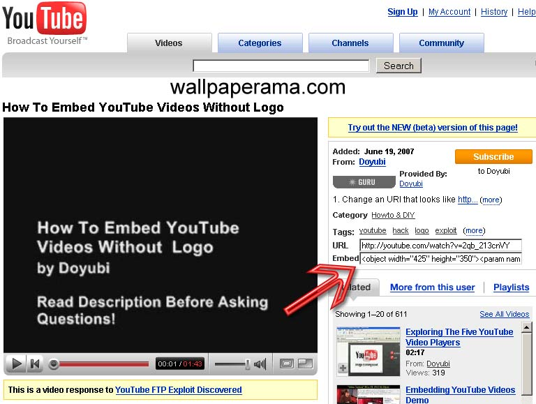 mobile how to find youtube url
