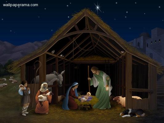 New Born Baby Jesus Manger Nativity Scene Wallpapers For Christmas