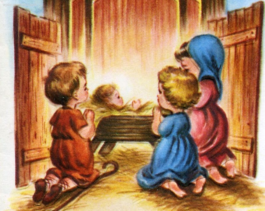 Baby Jesus In The Stable Nativity Wallpaper Picture Of Christ Barn