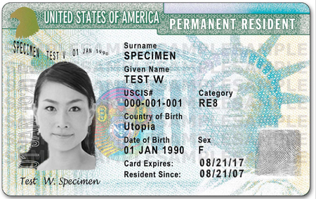 green card in usa