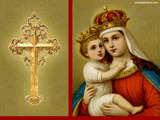 Baby Jesus With Mary Wallpaper