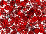 Red Flakes In Flakes Wallpaper