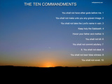 The Ten Commandments Wallpaper