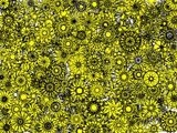 Yellow Flakes In Flakes Wallpaper