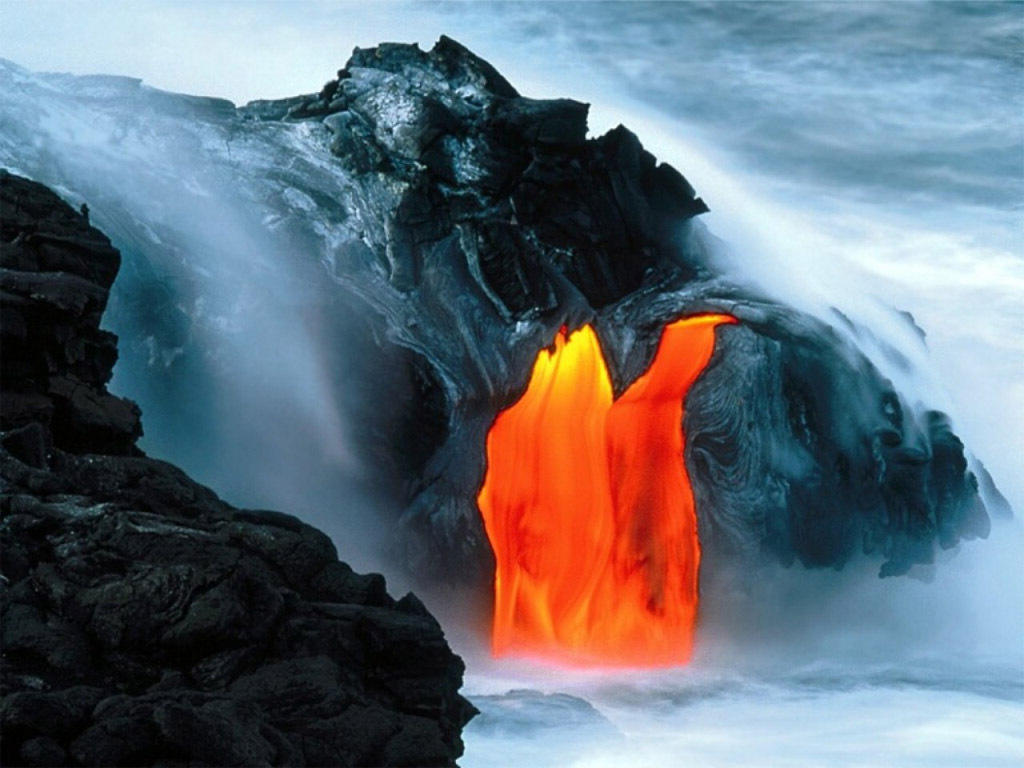 Hawaiian Volcano Wallpaper Free HD Backgrounds Images Pictures