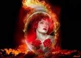 Red Rose Fire Wallpaper