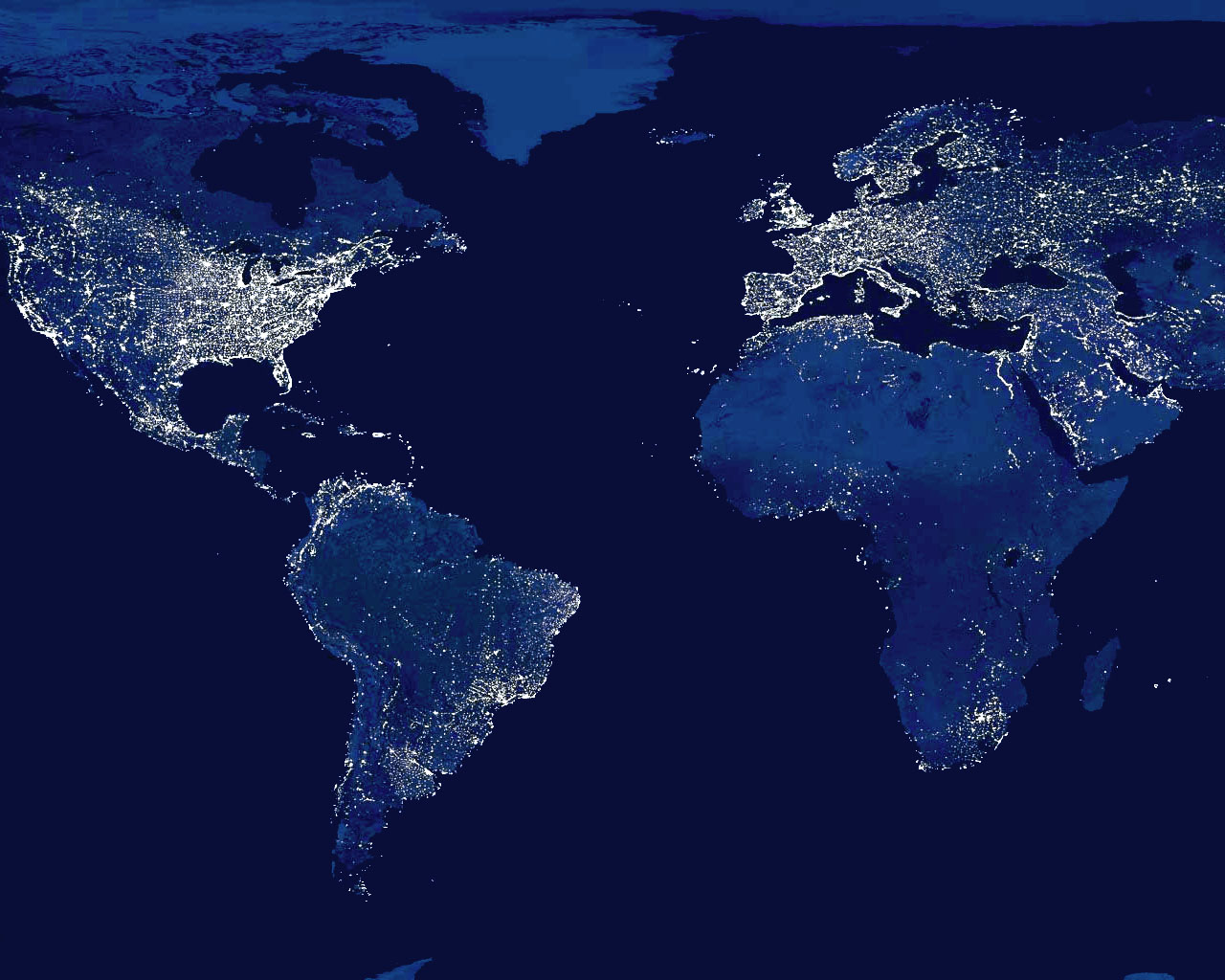Earth View From Space At Night Wallpaper