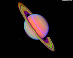 Infrared Saturn Wallpaper