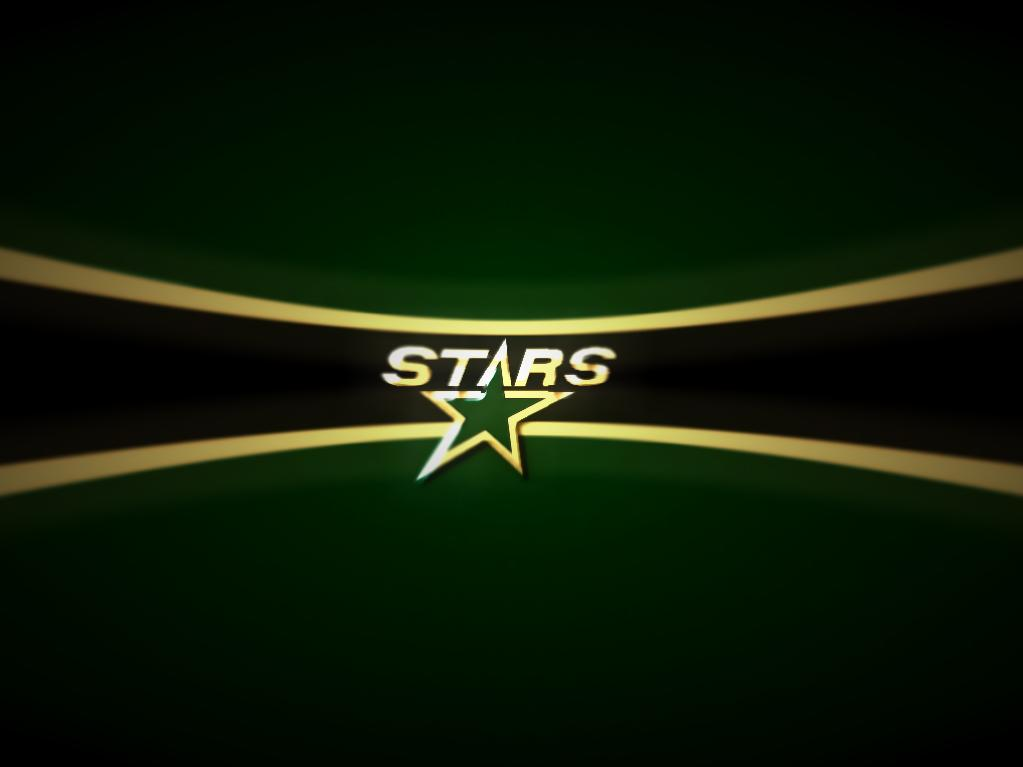 Dallas Stars Dark Green With Star Wallpaper